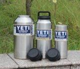 Бутылка Rambler Yeti нержавеющей стали 18oz 36oz 64oz с изолированной течебезопасной крышкой