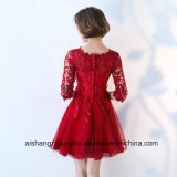 A dama de honra veste meios vestidos elegantes simples do banquete de casamento do laço das luvas