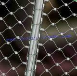 Cuerda de alambre de acero inoxidable malla para los animales de zoológico