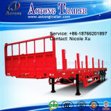 60t 3 Axles Heavy Cargo Transport Flatbed Semi Trailer