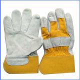 Soldadura cortos guantes de seguridad Guantes de cuero Guantes de trabajo de cuero