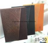 Caderno de couro personalizado do plutônio da qualidade superior para o diário, o jornal e a nota