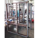 Ventana fija de aluminio de grano de madera con vidrio endurecido