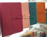 Cuaderno / diario de cuero de la PU de la insignia de encargo de la alta calidad