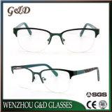 Design popular espectáculo inoxidável estrutura óptica óculos de óculos