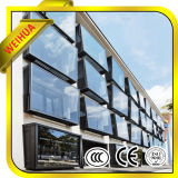 /Cor escurecida com isolamento duplo de vidro oco, parede de Cortina da janela