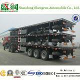 De hete Verkopende 40FT Aanhangwagen van de Container van de Aanhangwagen van 3axle Flatbed Semi
