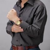 Belbi Mann-Uhr-beiläufiges Form-Seriesun-Gesichts-Leder-wasserdichte Legierungs-Quarz-Uhr