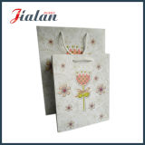 Sac de papier mat estampé par logo de scintillement fait sur commande bon marché des prix