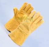 熱い販売法の高品質牛そぎ皮働く手の手袋か働く皮手袋
