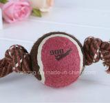 テニス・ボール(KT0002)が付いているペット製品犬ロープのおもちゃ