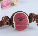 Productos para mascotas Juguetes de cuerda de perro con pelota de tenis (KT0002)