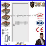 Nueva puerta de madera chapeada HDF del dormitorio del estilo de la seguridad