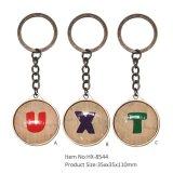 주문 최신 판매 기념품 형식 금속 Keychain Hx-8544