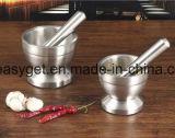 Пестик ступки приспособления чеснока точильщика специи нержавеющей стали для кухни