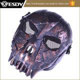 戦術的な銅の黒い頭骨の骨組Paintballの戦争ゲームマスク