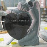 European Black Granite Angel Heart Design Headstones