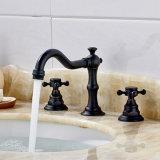 3 buracos torneira de lavatório de lavatório de lavatório de bronze