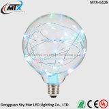 Zeichenkette-Licht der Kugel-LED dekorative RGB-bunte kupferner Draht-Birne