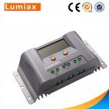 12V 24V 20A 30A 40um controlador de carga solar USB com o ecrã LCD
