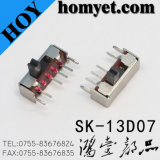 Contact coulissant miniature 1p3t au sujet de C.C de 0.5A 50V (SK-13D07)