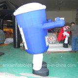 Подгонянная чашка конструкции дешево раздувная голубая для сбывания промотирования