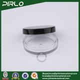 15g 0.5Oz Forma plana de plástico transparente com jarro de Cosméticos Tampa preta Ficha preta