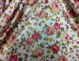 L'impression Poly Tissu satin robe pour les femmes