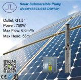 1HP 750Wの浸水許容の太陽水ポンプ、深い井戸ポンプ