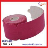 Bandage précoupé de bande de Kinesio de Vollyball de tennis de golf de sports colorés d'athlète