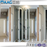 Porte de pliage de bâti d'alliage d'aluminium de spécialité grande
