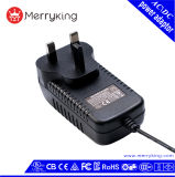 En60950 adaptador BRITÂNICO da fonte de alimentação de DC da C.A. do plugue 6V 4A 24W