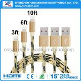 셀룰라 전화 부속품 1m 2.1A 비용을 부과 케이블