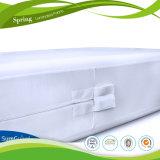 Protector impermeable hecho punto polivinílico del colchón del ácaro del polvo de Jersey