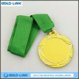 Médaille d'or de gravure à la vente chaude Trophée de pièces de médailles en métal personnalisé
