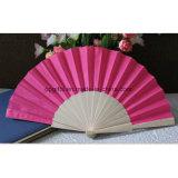 Ventiladores de madera del ventilador de encargo de la mano/de los papeles/de bambú plegables
