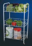 Cremagliera domestica di immagazzinaggio di vegetali del metallo della cucina con la rotella