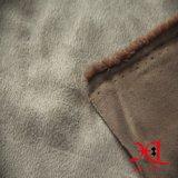 100% полиэстер с одной стороны велюр ткань для одежды/куртку и сумку