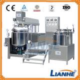 El tanque de mezcla de emulsión del vacío con el homogeneizador