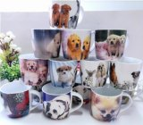 Tazza di caffè bianco di promozione di stile dell'annata/marchio reso personale stampa di ceramica della tazza di caffè