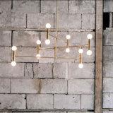 Estilo Postmoderno Sala de Estar Decorativa Suspensão do Quarto Suspensão Lâmpada Pendente Iluminação em Preto / Cor de Ouro