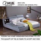 기능적인 맨 위 현대 진짜 가죽 침대 홈 침실 가구 Fb8155