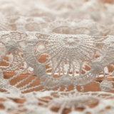 Nuovo ricamo del merletto di disegno, tessuto del merletto del ricamo, merletto