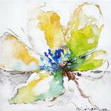 Peinture à l'huile de toile florale
