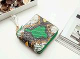 ジッパーのふさカラーヘビの小さい財布(BDMC149)