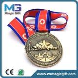 Medalla modificada para requisitos particulares fabricante del desafío de la fábrica de la medalla de China con el laminado de bronce