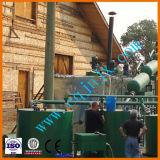 Distillazione dell'olio del petrolio alla macchina della raffineria della benzina e del diesel