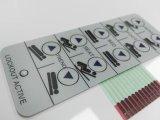 Kundenspezifischer Epoxidanhaftender flexibler LED Membranschalter der platten-3m mit Schlüsselabdeckung des metall10