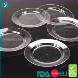 PS partido descartáveis de plástico transparente/Salada/jantar/que serve a placa de carimbo
