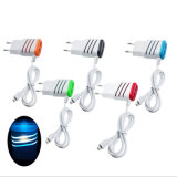 Round Plug New European Regulations Smart Charger / Plug com duas portas USB duplas para telefone celular